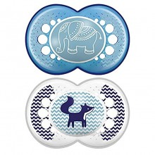 MAM Original Pacifier 2 pack 1 Sterilizing Pacifier Case Pacifiers 16 Plus Months Baby Pacifiers Baby Boy Best Pacifiers for Breastfed Babies Sterilizing Storage Case Designs May Vary