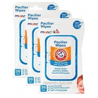 Munchkin Arm and Hammer Pacifier Wipes White 108 Count