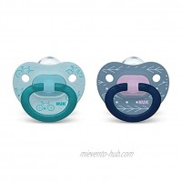 NUK Orthodontic Pacifiers Boy Blue 18-36 Month Pack of 2