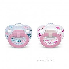 NUK Orthodontic Pacifiers Girl Red 18-36 Month Pack of 2
