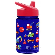 Simple Modern Kids Tritan Summit Sippy Cup for Toddlers 12oz Plastic Baby Water Bottle for Girls and Boys Under Construction Trucks Crane Tractors