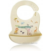 KM Collection Baby Silicon Bibs Easily to Clean Adjustable for Toddlers 100% Food Grade Eco Friendly & Washable