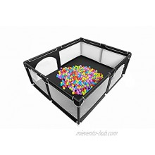 Baby Playpen Extra Large Playard for Toddlers 29+ sq. Ft Play Area Kids' Safety Play Yard & Activity Center Large Ball Pit for Indoor & Outdoor Portable Anti-Fall Play Pen for Infants Black