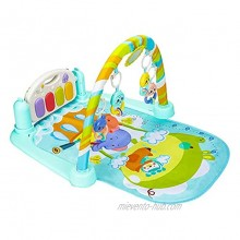 Christoy Baby Play Gym Kick and Play Mat Newborn Activity Gym Lay & Play 3 in 1 Fitness Music and Lights Fun Piano Blue