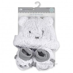Cribmates Petite L'Amour for Baby HAT & Bootie Set White One Size