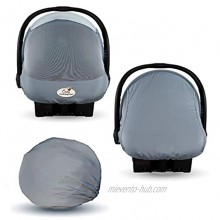 Summer Cozy Cover Sun & Bug Cover Glacier Gray The Industry Leading Infant Carrier Cover Trusted by Over 2 Million Moms Worldwide for Protecting Your Baby from Mosquitos Insects & The Sun