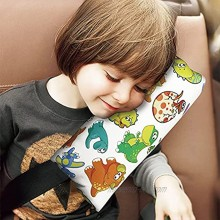 Car Seat Belt Pillow for Kids,Dinosaur Car Safety Belt Cover Pad for Head and Neck Shoulder Support,Auto Seat Belt Strap Cover for Children Baby Dinosaur