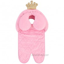 Oenbopo Baby Head Neck Support Soft Stroller Cushion for Car Seat and Stroller Pink