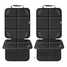 Car Seat Protector for Child Car Seat Waterproof 600D Fabric Carseat Seat Protectors with 2 Large Pockets and Non-Slip Backing- Not Easy to Fade