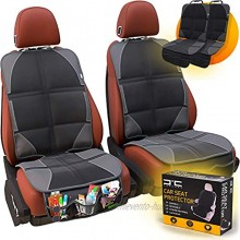 CarCube Car Seat Protector for Child Car Seat with 3 Pockets for Handy Storage Waterproof Durable Pack of 2