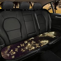 WELLFLYHOM Gold Butterfly Bottom Seat Covers for Cars,Back of Car Seat Protector Auto Seat Cushion Non Slip Comfortable,Cute Girly Car Seat Automotive Seat Protector Mat Pad