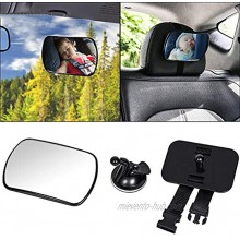 Baby Car Mirror Bessie Sparks Car Back Seat Mirror for Rear Facing Infants and Babies Safety Shatterproof Acrylic Material 360 Degree Rectangle Rectangle 170x110MM