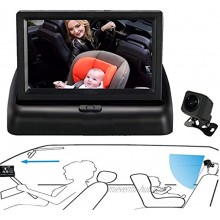 DOUXURY Baby Car Mirror View Infant in Rear Facing Seat with Wide Crystal Clear View Camera Aimed at Baby-Easily to Observe the Baby's Every Move