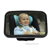 Greenco Rear Facing Crystal Clear Back Seat Baby View Mirror Large