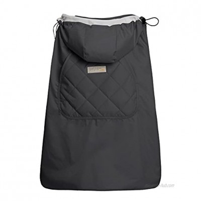 Bebamour Universal Hoodie All Season Carrier Cover for Baby Carrier Dark Grey