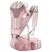 Ergonomic Baby Carrier,Comfortable and Safe Backpack Style Sling for Holding Babies,Hip Seat and Cool Air Mesh,Adjustable 4-in-1 Position,Newborn to Toddler with Lumbar Support Child 7-33 lbs Pink