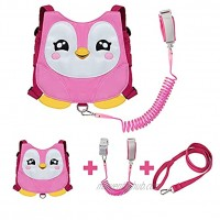 EPLAZA Penguin-Like Toddler Harnesses with Leashes Anti Lost Wrist Link Wristband for 1.5 to 3 Years Kids Girls Boys Safety Penguin Pink