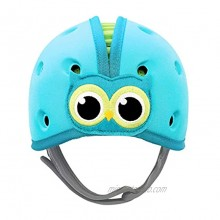 SafeheadBABY Soft Helmet for Babies Learning to Walk Owl Blue Green Patented and Award Wining Infant Helmet- Ultra Lightweight Expandable and Adjustable