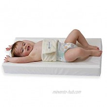 PooPoose Baby Changing Pad Diaper Mat for Table Dresser Change Station Soft & Secure White