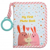 Baby's My First Family Album,Soft Cloth Photo Book,Baby Cloth Album Pink