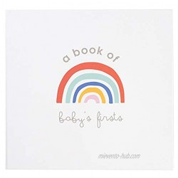 C.R. Gibson Rainbow ''A Book of Baby's Firsts'' Baby First Year Memory Book with Ink Pad 36 Pages 9.5'' x 9''
