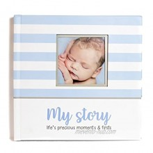 First Year Baby Memory Book & Baby Journal 3 Color Styles Available. Perfect for Boys or Girls Baby Shower Gift. First 5 Years Scrapbook Keepsake & Photo Journal. Unisex Blue