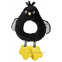 Manhattan Toy Wimmer-Ferguson Penguin Circle Rattle with Textured Teethers Baby Toy