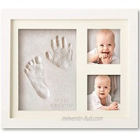 Baby Handprint and Footprint Makers Kit Keepsake For Newborn Boys & Girls Baby Girl Gifts & Baby Boy Gifts New Mom Baby Shower Gifts Baby Milestone Picture Frames Baby Registry Nursery Decor