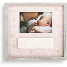Demdaco Boldly Grow Pale Pink 9.5 x 10 Ceramic Children's Tabletop Picture Frame