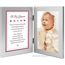 Godparents Gift from Goddaughter Baptism or Christening Add Photo