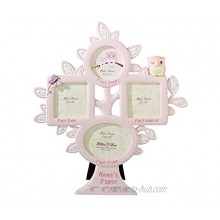 Lillian Rose 1st Year Picture Frame Pink Owl 10.5