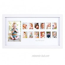 Pearhead My First Year Photo Moments Baby Keepsake Frame Baby's First Year Keepsake White