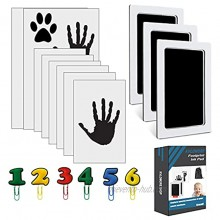 Kvlomore Baby Footprint Handprint Pet Paw Print Kit Shower Gifts Cards with 3Ink Pads and 8 Imprints Sets