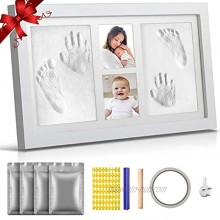 Newborn Baby Handprint Footprint Keepsake Kit Baby Picture Frame Kit Non Toxic No Bake 1200 Grams of Clay Best Baby Shower Gifts for Boys Girls Twin Babies New Mom