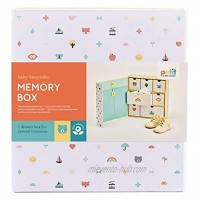 Petit Collage Newborn Baby Memory Box – Keepsake Box with 7-Drawers for All of Baby's Firsts Makes an Inspired Gift for Baby Showers and Expectant Moms