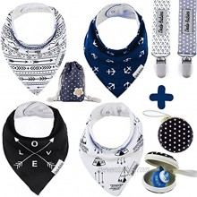 BabyBandana DroolBibs by Dodo Babies + 2 Pacifier Clips + Pacifier Case in a Gift Bag Pack of 4 Premium Quality For Boys or Girls  Excellent Baby Shower Registry Gift