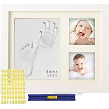 MyMiniJoy Baby Handprint Kit and Footprint Picture Frame Kit for Baby Gifts Keepsake Box for Newborn Baby Boys and Baby Girls Memorable and Unique Baby Shower Gifts Idea for Registry New Mom Gifts