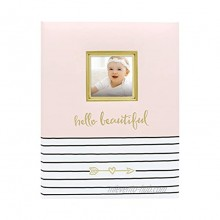 Pearhead Hello Beautiful First 5 Years Baby Memory Book with Photo Insert Baby Shower Gift Pink