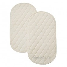 American Baby Company Natural Waterproof Quilted Playard 2 Pack Changing Table Pads Made with Organic Cotton Top Layer