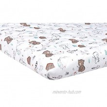 Trend Lab Quilted Jersey Playard Sheet Fishing Bears