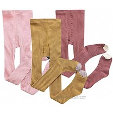 LPATTERN Baby Girls Tights Cable Knit Leggings Stockings Cotton 3 Pack Pantyhose Infants Toddlers 6M-8T