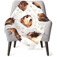 Guinea Pig Pattern Soft Baby Blankets Super Cozy Newborn Receiving Blanket Warm Nursery Bed Blankets Suitable for All Seasons