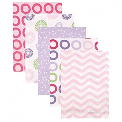Luvable Friends Unisex Baby Cotton Flannel Receiving Blankets Pink Pinwheel One Size
