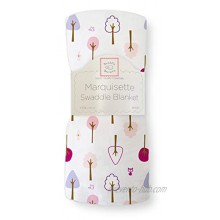 SwaddleDesigns Marquisette Swaddling Blanket Premium Cotton Muslin Very Berry Cute and Calm