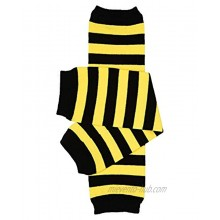 juDanzy Bumblebee Bee Black and Yellow Stripe Baby and Toddler Boys and Girls Leg Warmers