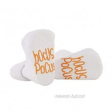 Stephan Baby Non-Skid Silly Socks with Cute Sayings Halloween Hocus Pokus Fits 3-12 Months