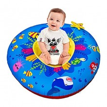Baby Activity Center & Floor Seat Inflatable Baby Nest with 8 Multi-Sensory Activities for 0-6-12 Months Baby Provide a Safe and Comfortable Place to Play or Practice Sitting Up for Baby