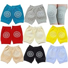 Toddler Knee Pads Unisex Baby Anti-Slip Stretch Kneepads for Crawling Non-constricting Legs 8-Pairs 6-36M