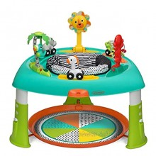 Infantino 3-in-1 Spin & Stand Entertainer 360 seat and Activity Table with Simple Store-Away Design Multi-Colored
